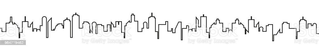 Black city silhouette on a white background - stock vector royalty-free black city silhouette on a white background stock vector stock vector art & more images of architecture