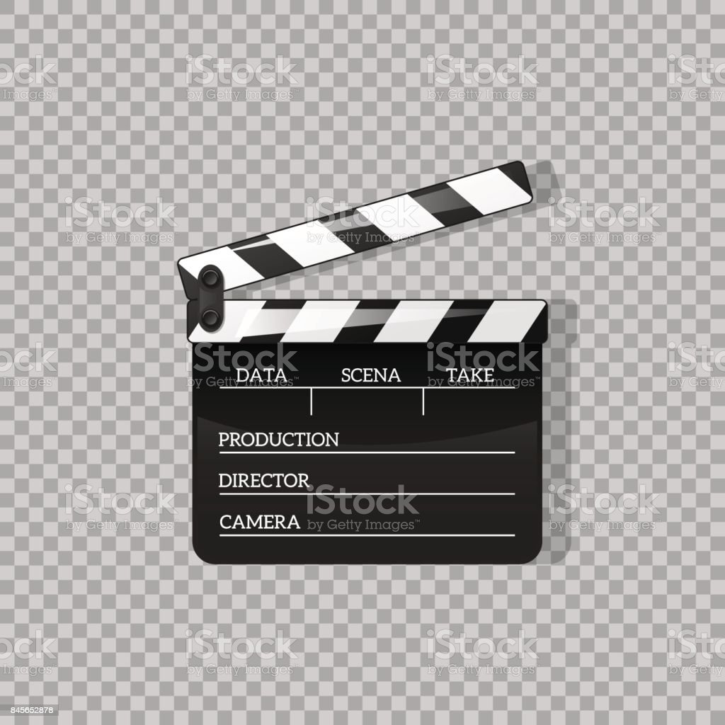 Black clap open black object element for movie vector illustration black clap open black object element for movie vector illustration flat in style symbol icon biocorpaavc