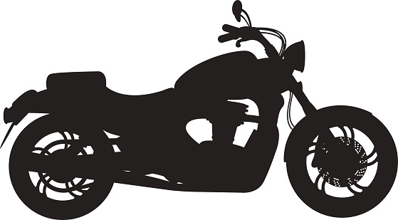 Black classic bike silhouette transport power vector illustration