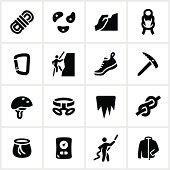 Black Climbing Icons