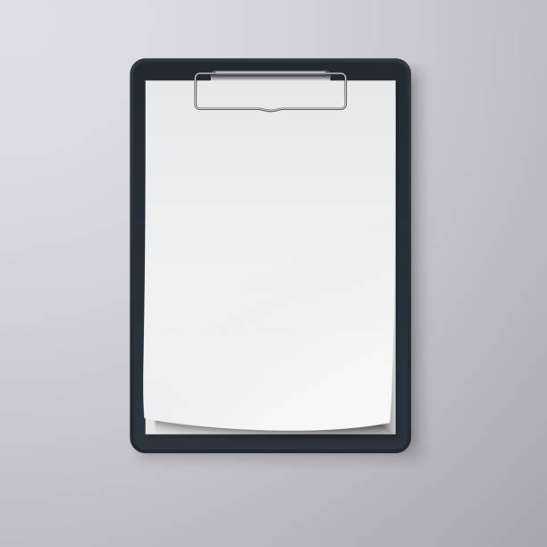 Black clipboard with blank white sheet. EPS 10 Black clipboard with blank white sheet. EPS 10 clipboard stock illustrations