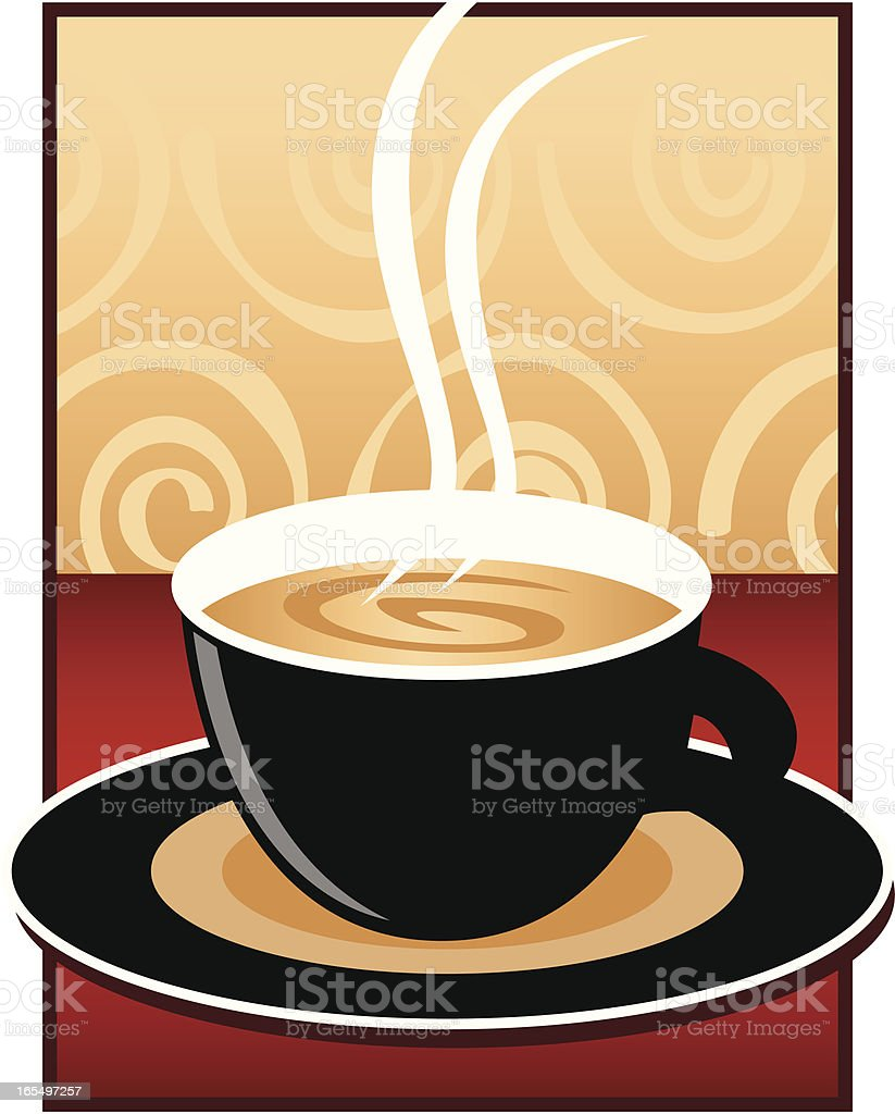 Black Coffee Cup royalty-free stock vector art