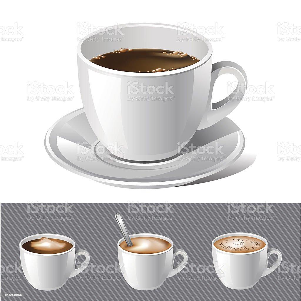 black coffee with cream royalty-free stock vector art