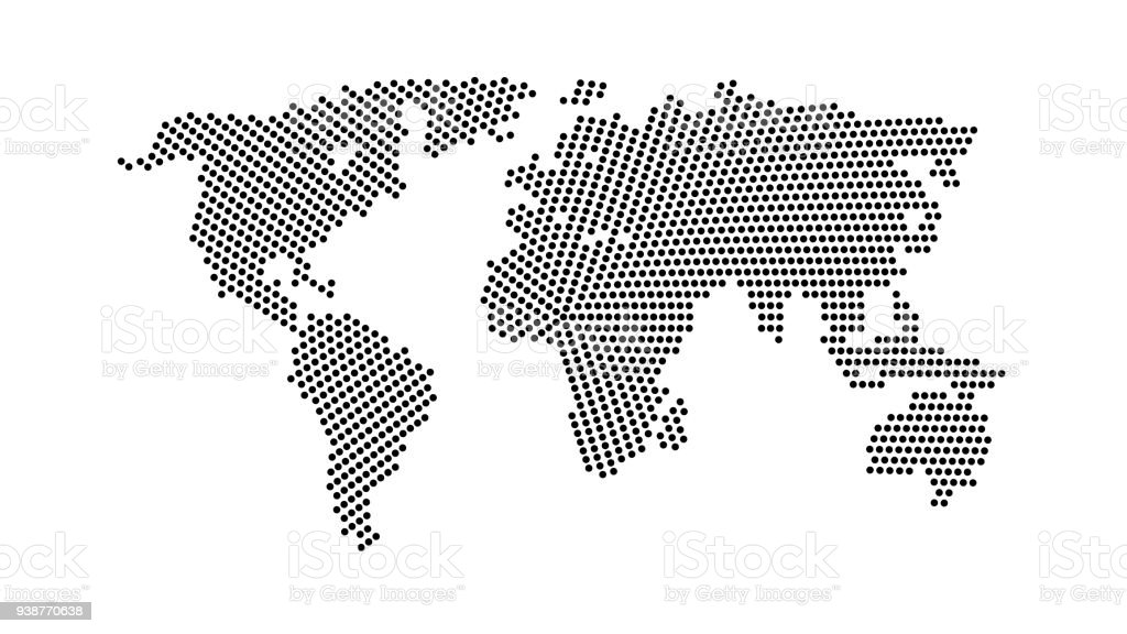 Black color world map isolated on white abstract dotted flat black color world map isolated on white abstract dotted flat template with dots for web gumiabroncs Choice Image