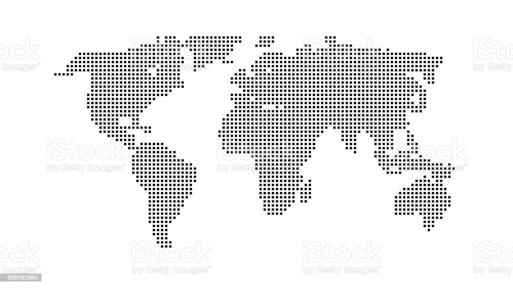 Black color world map isolated on white background abstract flat black color world map isolated on white background abstract flat template with rectangles for web gumiabroncs Gallery