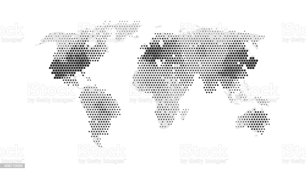 Black color world map isolated on white background abstract flat black color world map isolated on white background abstract flat template with rectangles for web gumiabroncs Choice Image