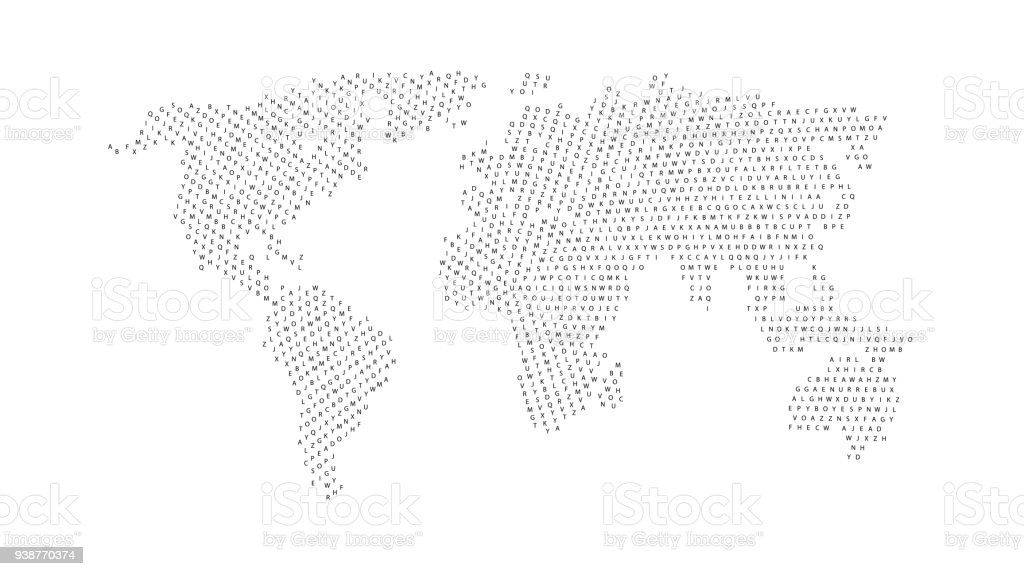 Black color world map isolated on white background abstract flat black color world map isolated on white background abstract flat template with letters for web gumiabroncs Choice Image