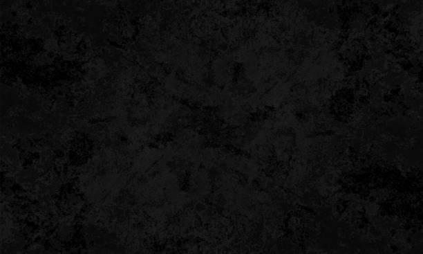 czarny kolor plamisty pęknięty efekt, tekstura ściany grunge wektor tła- poziome - ilustracja - ciemny stock illustrations
