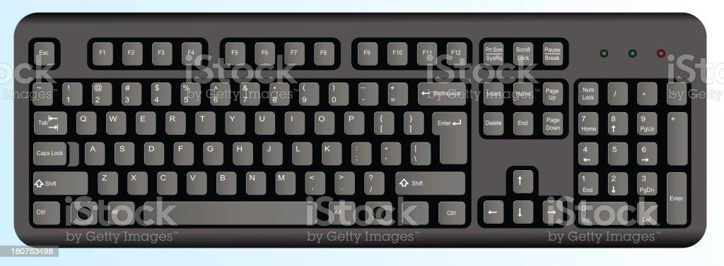 Black computer keyboard royalty-free stock vector art