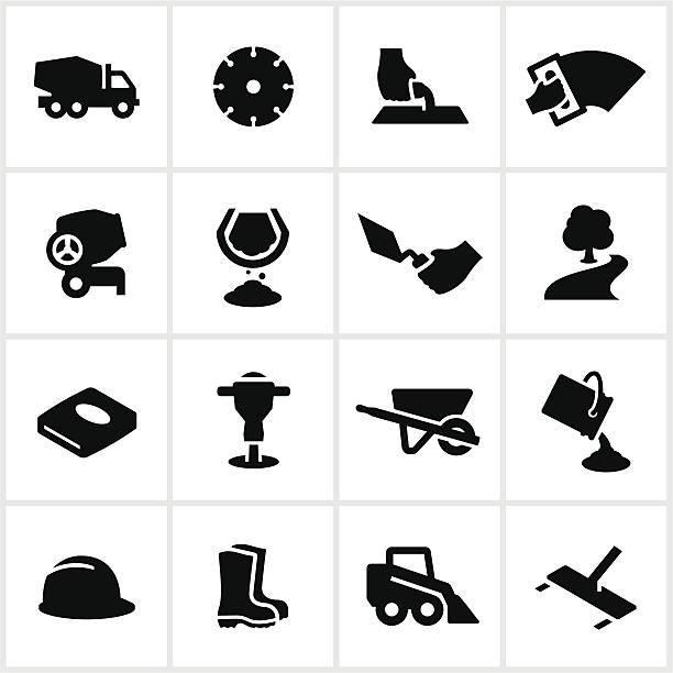 Schwarzer Arbeiten Symbole – Vektorgrafik