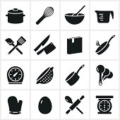 Common cooking utensil icons.