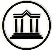 black courthouse icon