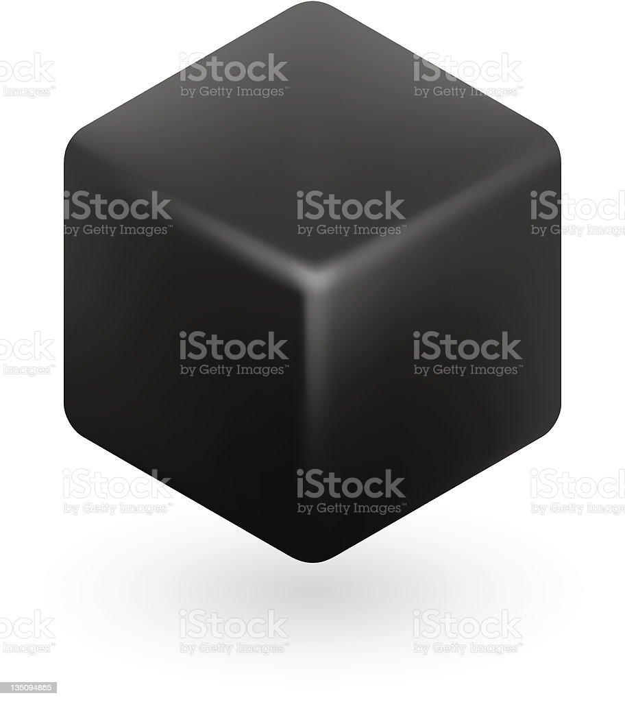 Black Cube royalty-free stock vector art