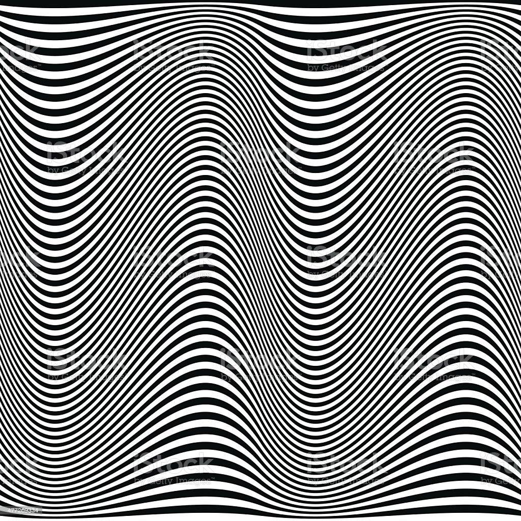 black curve strips vector art illustration