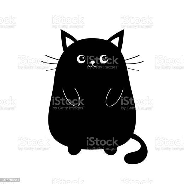 Black cute sitting cat baby kitten silhouette kawaii animal cartoon vector id997756654?b=1&k=6&m=997756654&s=612x612&h=8rtgddwv59ybvzkrrumxwv4uenb4dofuzsza192itqe=