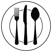 Black Cutlery Symbol