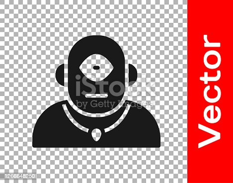 istock Black Cyclops icon isolated on transparent background. Vector 1266648250