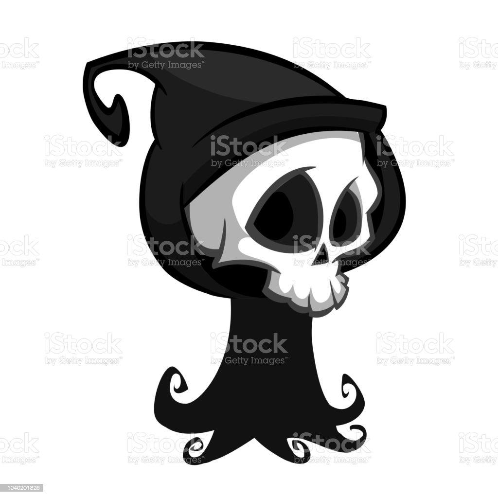 ハロウィンのコンセプトの黒い死のモンスター漫画ベクター クリップ