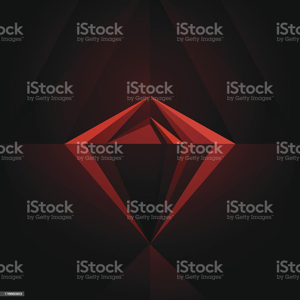 Black Diamond Geometric Graphic Art Layout Template Abstract Vector Background