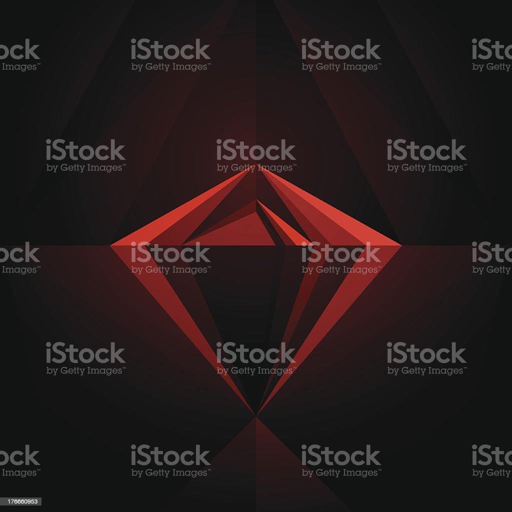 Black Diamond Geometric Graphic Art Layout Template Abstract Vector Background vector art illustration