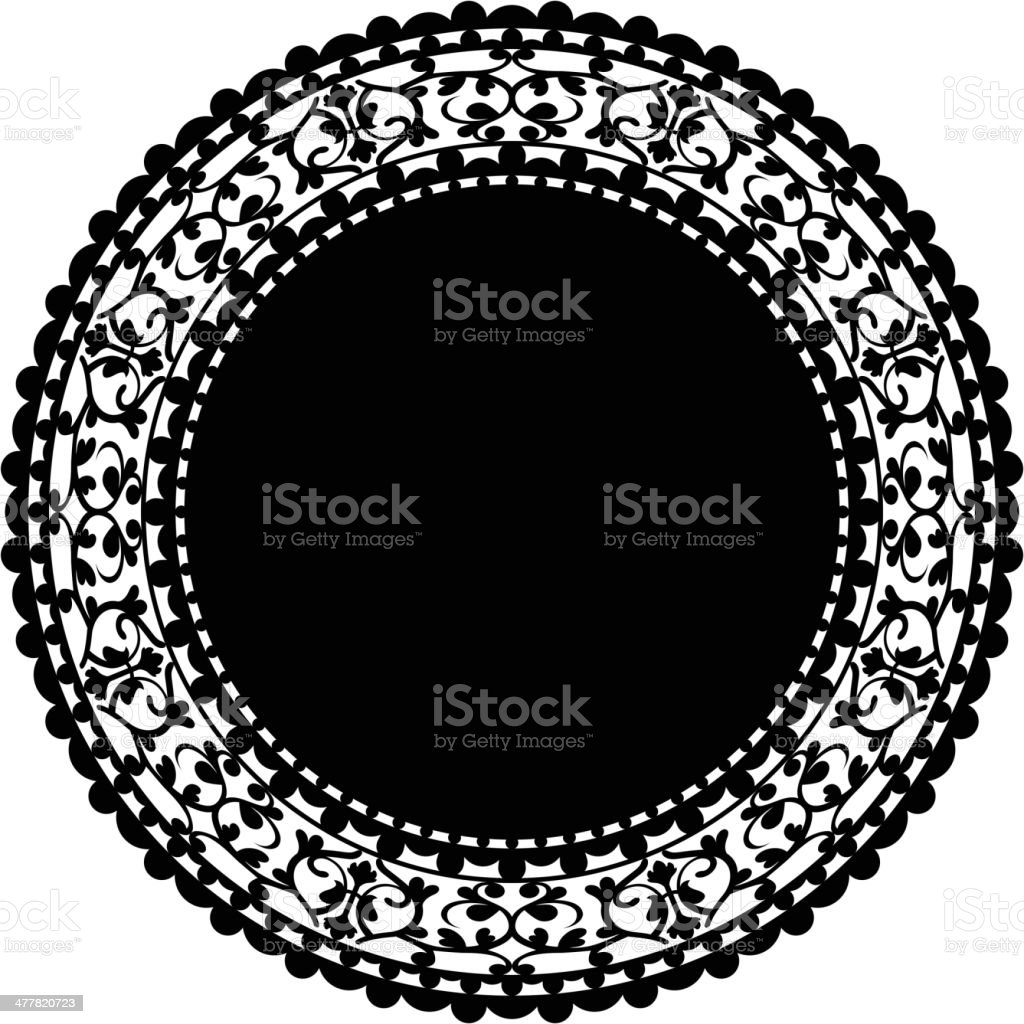 black doily royalty-free black doily stock vector art & more images of beige