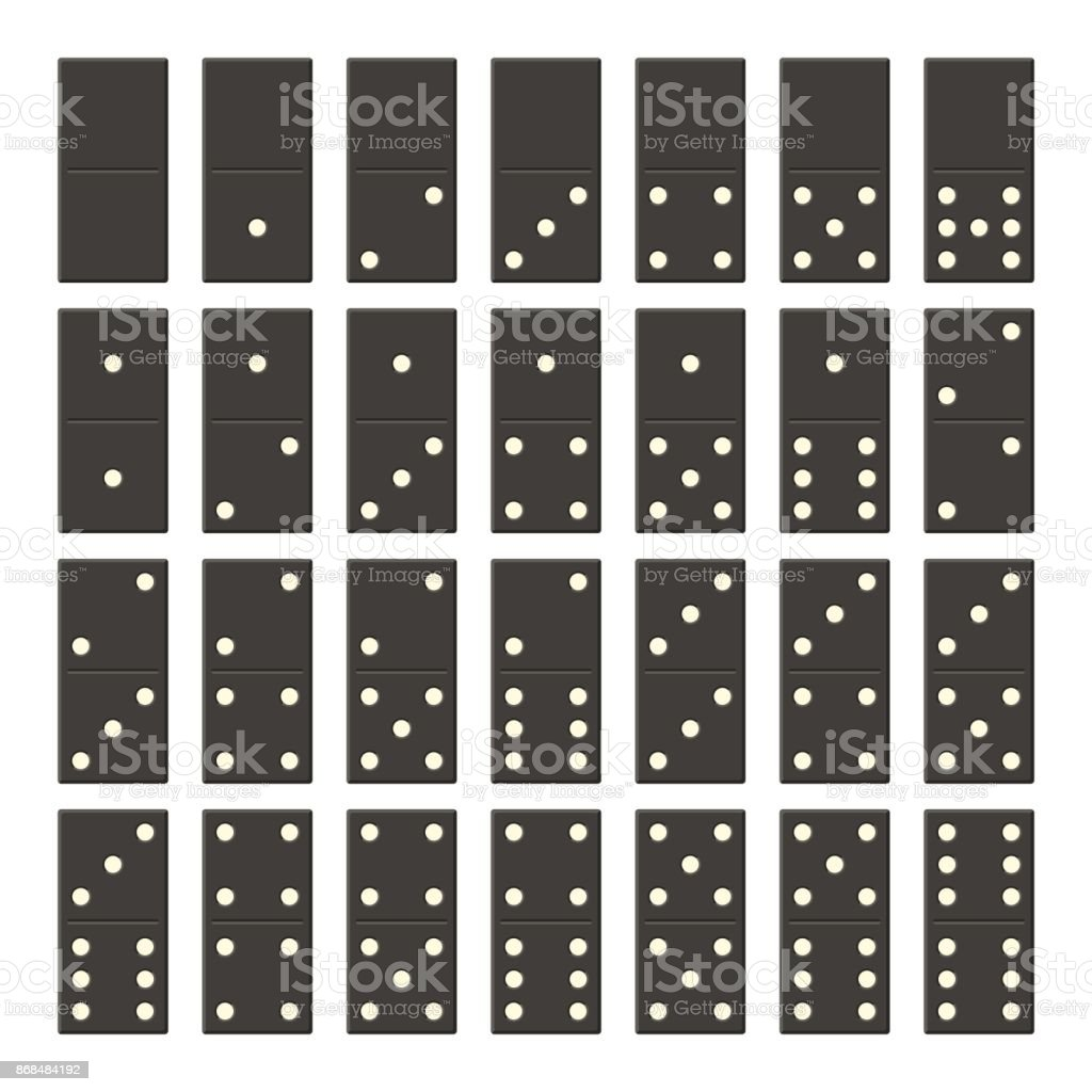 Vollständiger Satz Der Schwarze Domino Klassisches Spiel Domino Im ...
