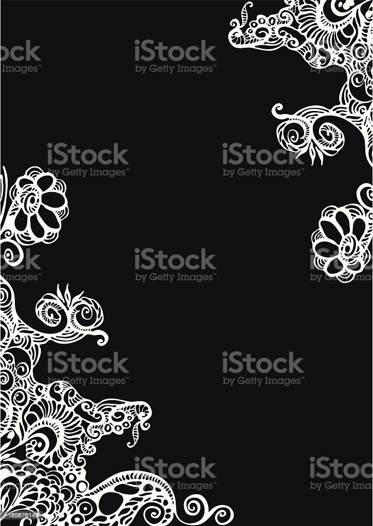 Black doodle background royalty-free stock vector art