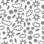 Black dots are arranged randomly on an isolated background. Vector illustration. Stock illustration.