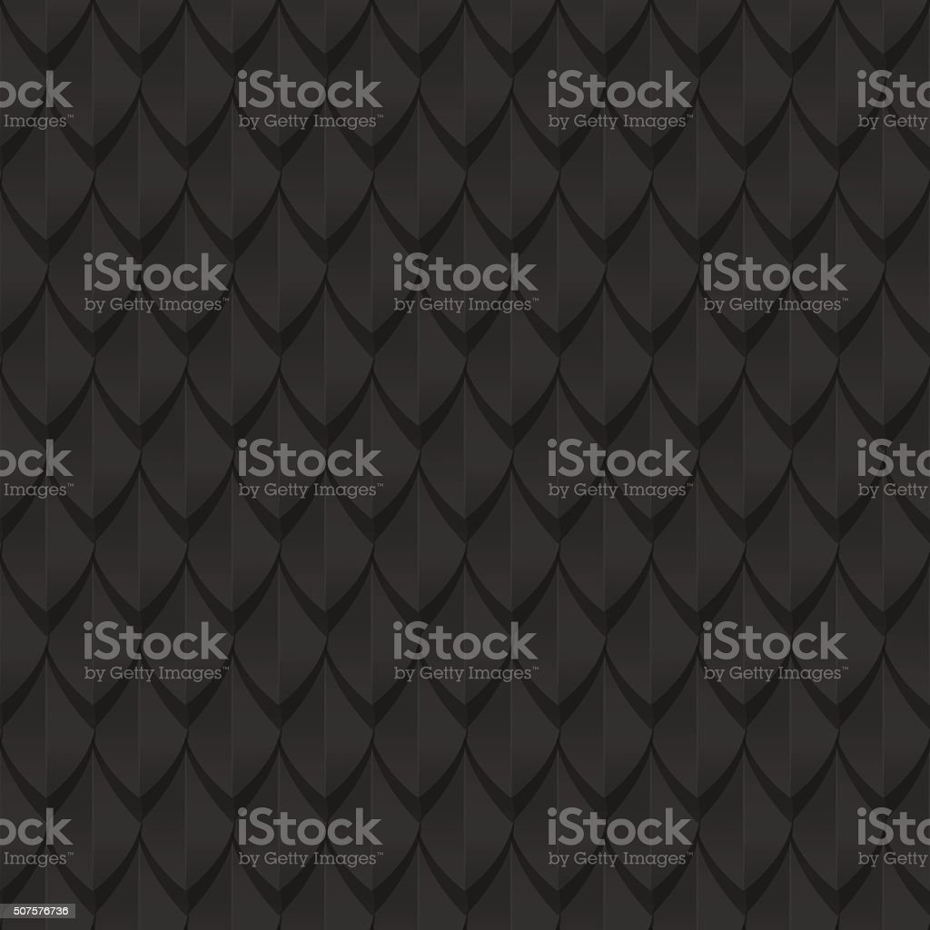 Black dragon scales seamless background texture vector art illustration
