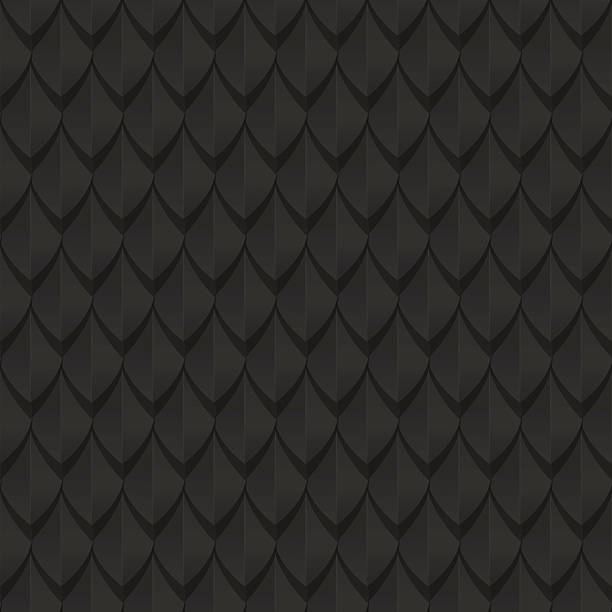 black dragon scales seamless background texture - dragon stock illustrations
