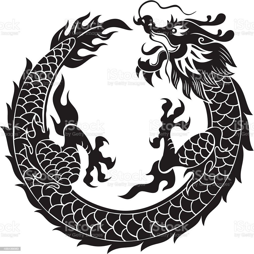 royalty free chinese dragon vector clip art vector images rh istockphoto com chinese dragon vector circle chinese dragon vector art