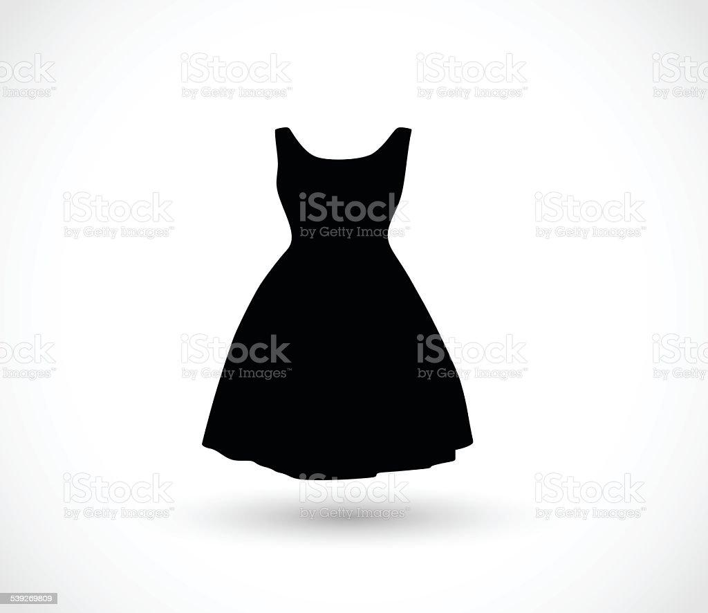 Black dress icon vector illustration vector art illustration