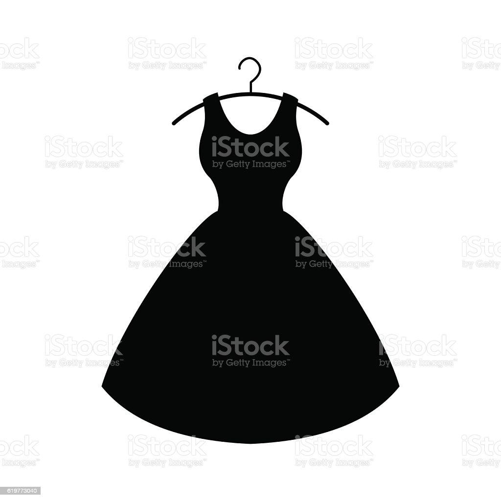 Black dress. Vector icon vector art illustration