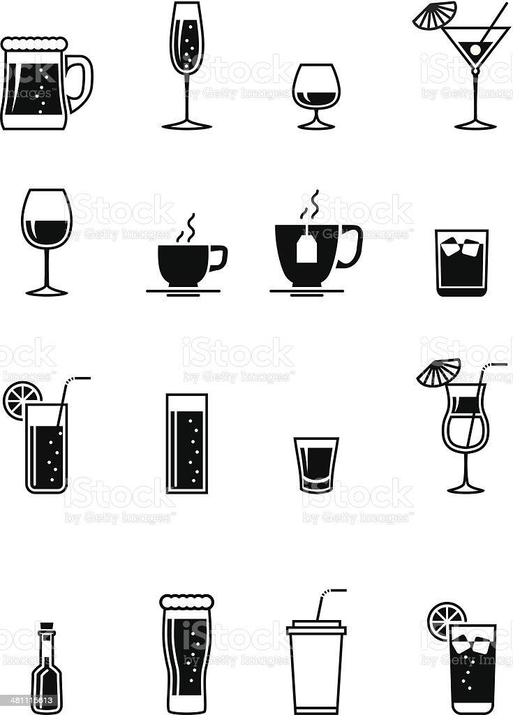 Schwarz Getränkesymbol Stock Vektor Art und mehr Bilder von ...