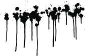 Black Dripping Paint