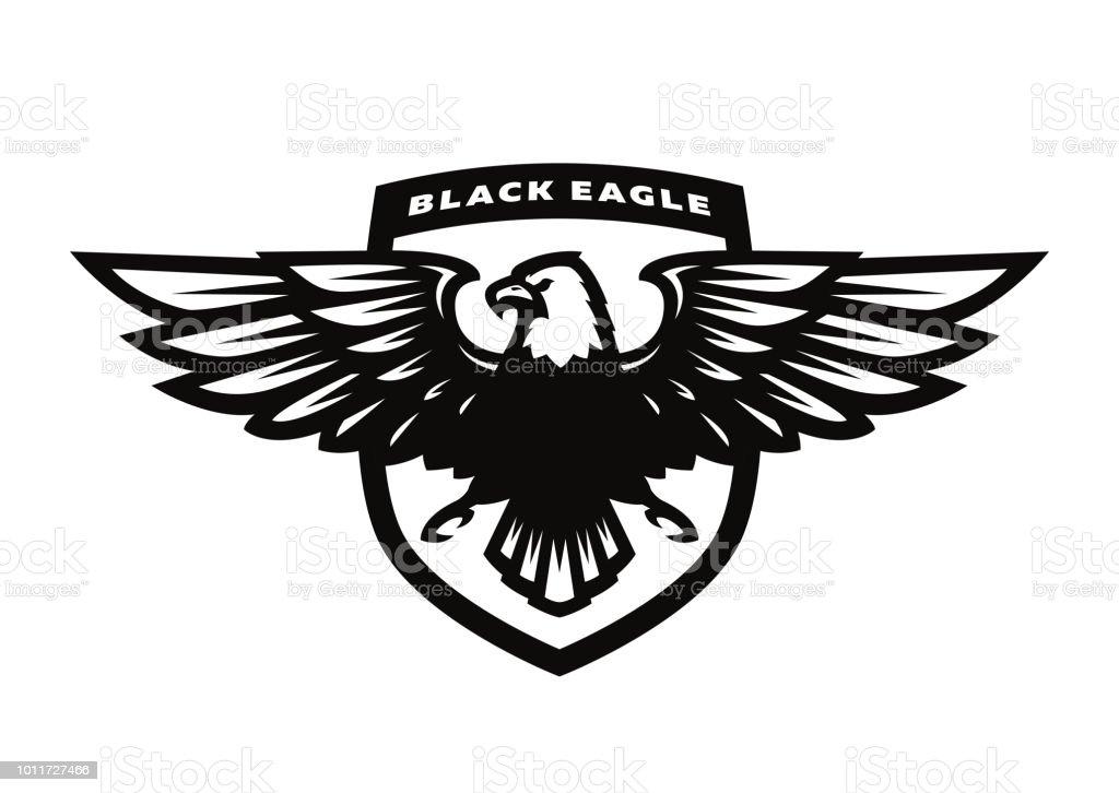 Black Eagle Logo Symbol Emblem Stock Vector Art More Images Of