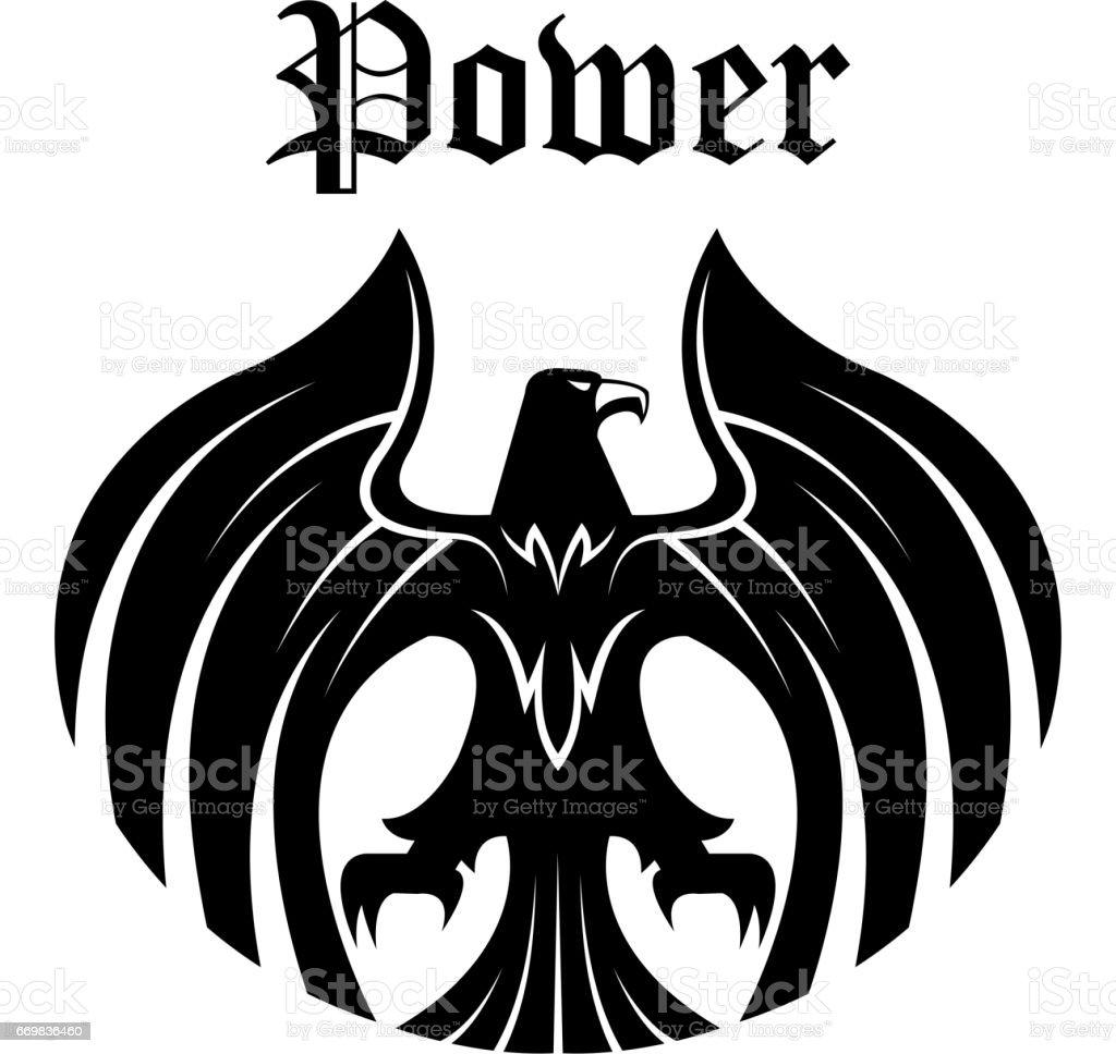 Black eagle round symbol for heraldic design stock vector art black eagle round symbol for heraldic design royalty free black eagle round symbol for heraldic biocorpaavc Images