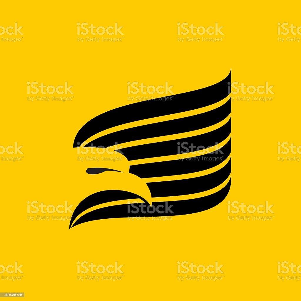 Black eagles isolated on white background
