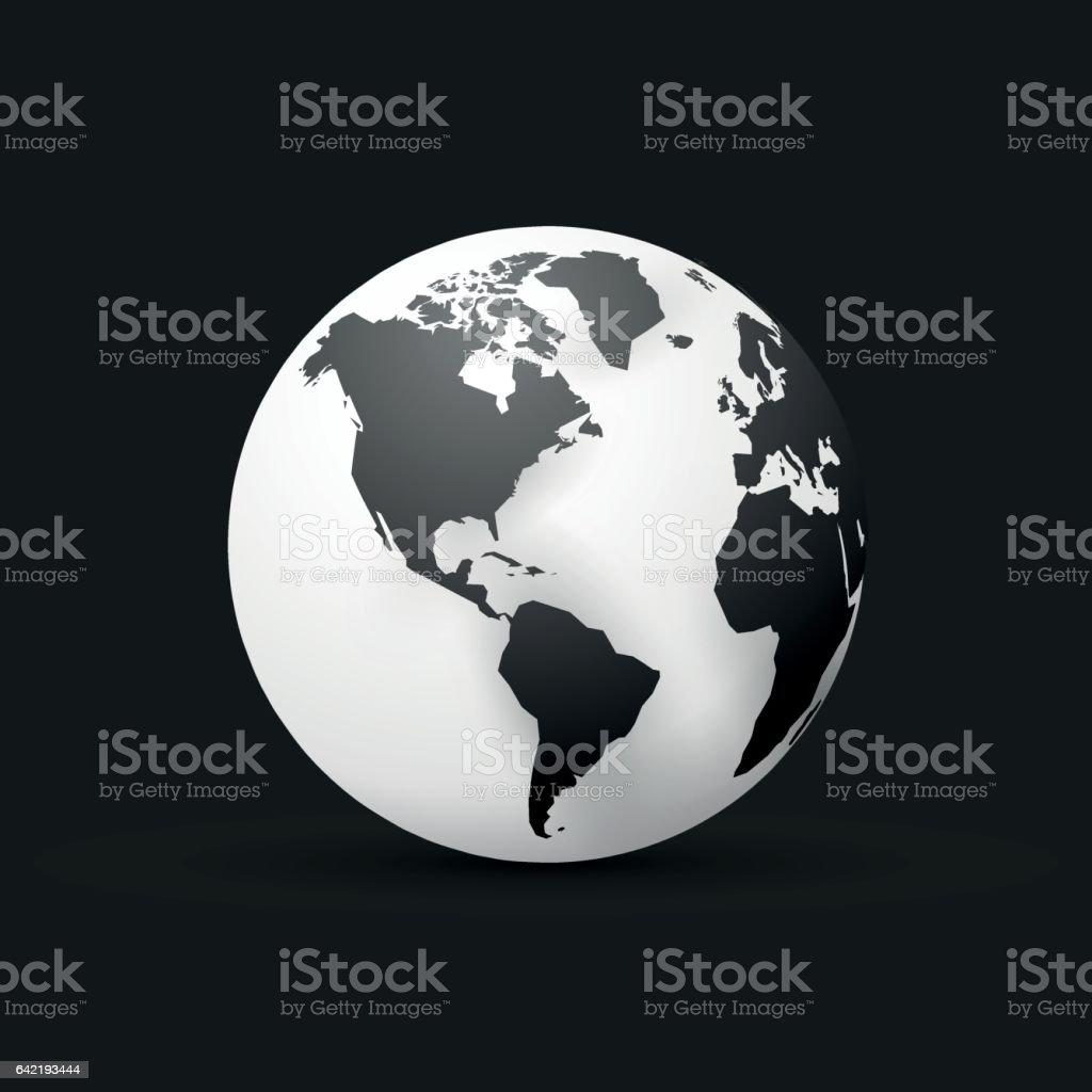 Mapa de mundial de globo de tierra negra diseo amrica arte mapa de mundial de globo de tierra negra diseo amrica mapa de mundial de globo de gumiabroncs Gallery