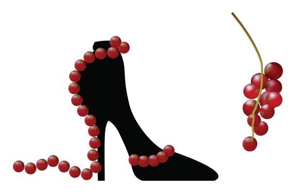 illustrazioni stock, clip art, cartoni animati e icone di tendenza di black elegant high-heeled shoes. fantasy of high fashion. - alta moda italy
