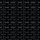 Black embossed abstract design in a seamless pattern