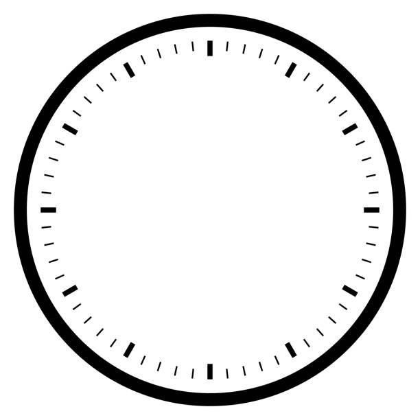 black empty clock isolated on white for pattern and design black empty clock isolated on white for pattern and design. clock stock illustrations