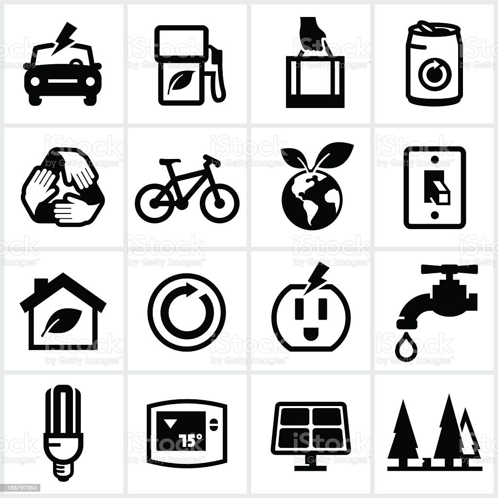 Black Environmental Icons royalty-free black environmental icons stock vector art & more images of alternative energy