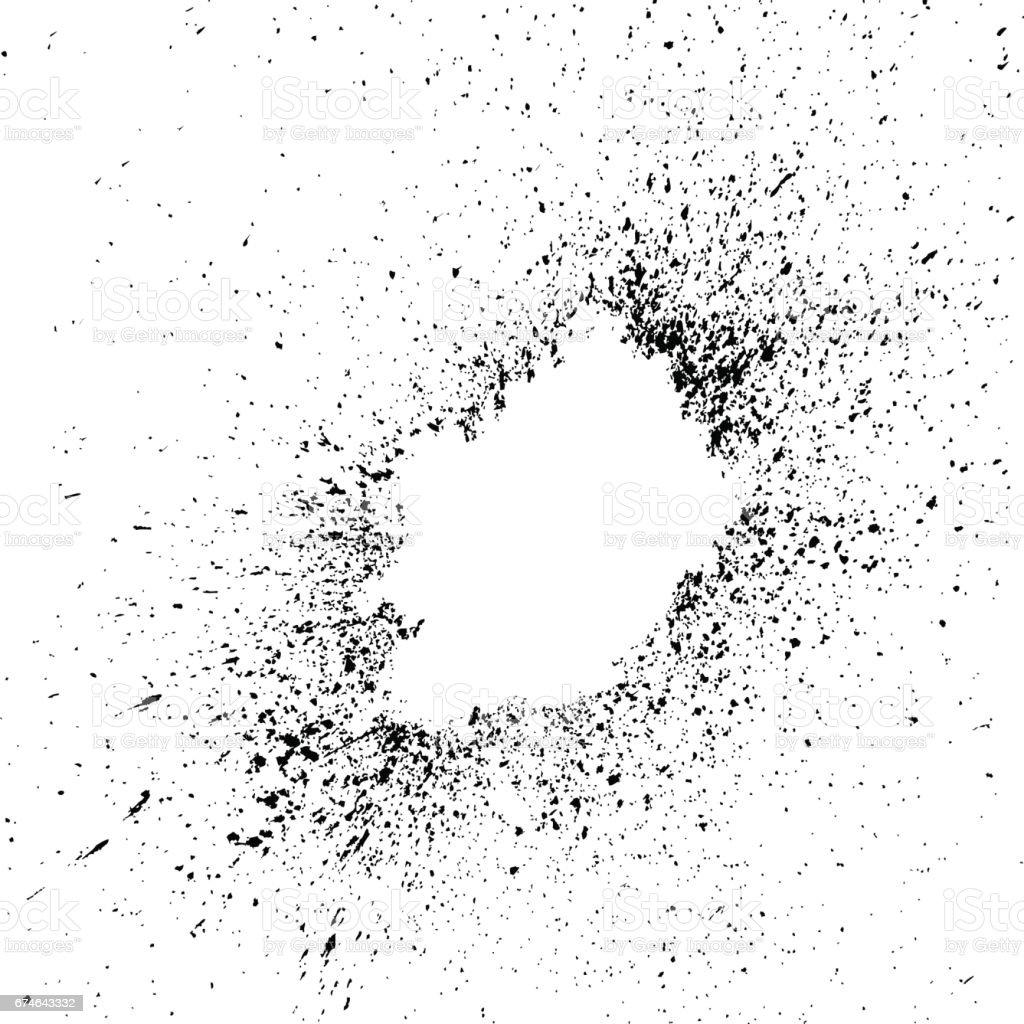 Salpicaduras de pintura de explosi n negra peque as gotas manchas aisladas sobre fondo blanco - Salpicaduras de pintura ...