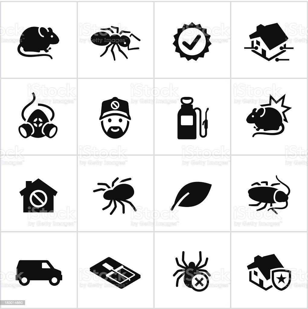 Black Exterminator Icons royalty-free stock vector art