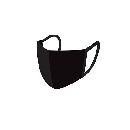 Black face mask icon design