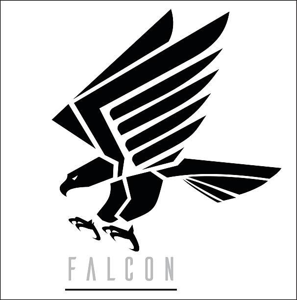Royalty Free Falcon Bird Clip Art, Vector Images ...