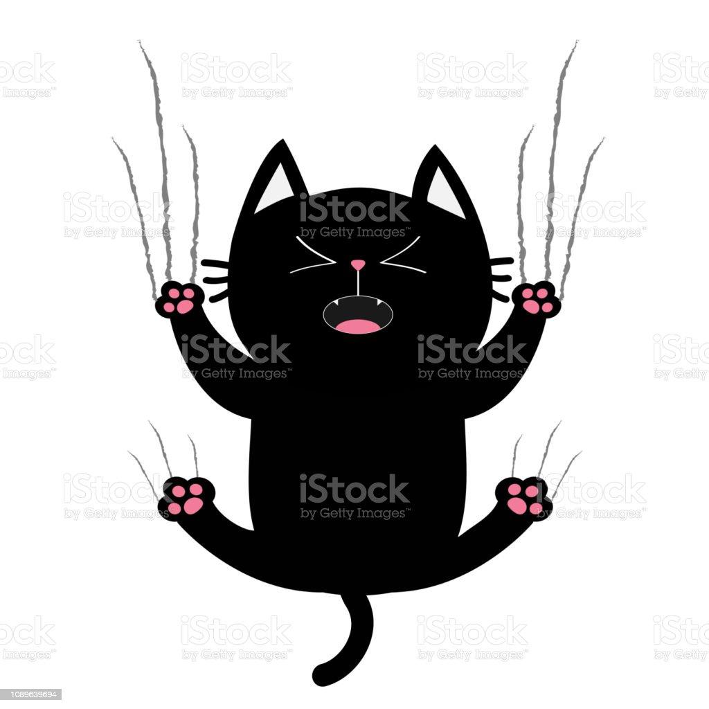 seulement graisse noir chatte