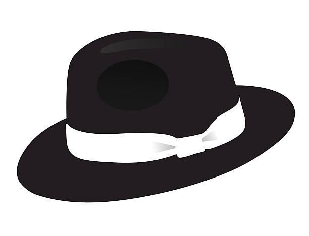 black fedora hat - gangster stock illustrations, clip art, cartoons, & icons