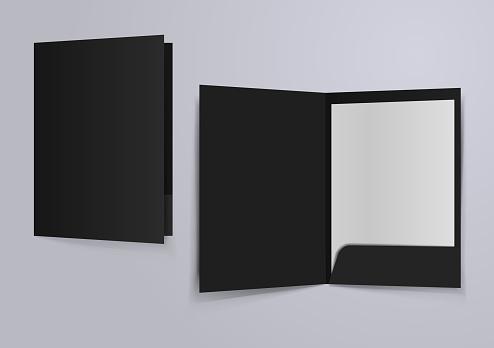 black file folder mockup